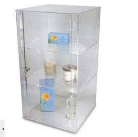 Makeup Cosmetic Acrylic Display Stand, Clear Brochure Holders And Displays