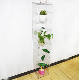 Cina Home Decorative Clear Free Standing Flower Acrylic Display Stand 120 * 2200 * 200mm pabrik
